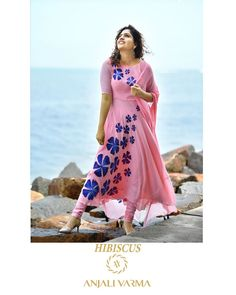 Explore our monsoon collection 2019 which is beautiful amalgamation of exotic designs&stunning shades.its inspired by a plant of the mallow… Churidar Designs, Kurta Designs Women, Indian Actress Photos, Beautiful Indian Actress, Indian Gowns Dresses, Indian Designer Outfits, Anarkali Dress, Indian Attire, Embroidery Dress