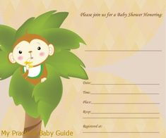 Monkey Baby Shower Theme Ideas - My Practical Baby Shower Guide