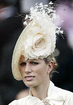 ascot hats | Royal Ascot Hat. the colour is simple but effective to the flower design.