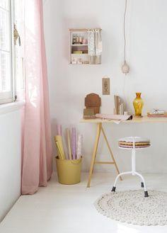 DIY wrapping corner | Home office | Woonbeurs Amsterdam 2014 | styling & design: stijlbloem.nl by Fleur Spronk | photography: Rolinda Windhorst