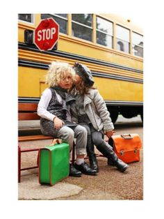 Before boarding the crowded school bus, Quinoa reminded Chevon once again to be bigger than the bad perm. #MIWDTD
