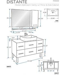 What Is The Standard Height Of A Bathroom Vanity Vessel Sink Vanity And Vessel Sink