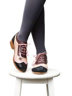 Shoes - Women's Shoes - Oxfords & Tie Shoes - Brogues, Flat shoes, Oxford shoes, Spring oxfords shoes, Leather shoes, Summer oxfords flats
