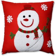 A grinning snowman with a soft, fuzzy texture makes the Pillow Perfect Snowman Throw Pillow a fun addition to your interior. Buy Pillows, Red Throw Pillows, Sewing Pillows, Throw Pillow Sets, Outdoor Throw Pillows, Decorative Throw Pillows, Felt Christmas, Christmas Crafts, Christmas Cushions