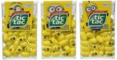 Minions Tic Tacs 3 PC Limited Edition Fruit Flavored Bob Stuart Kevin Mints NEW #TicTac