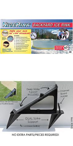 Other Ice And Roller Hockey 2911: Nicerink 20 X 40 Backyard Ice Rink Kit