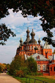 Shamordino Convent in the city of Kaluga, Russia.