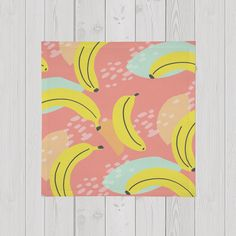 Painted banana pattern