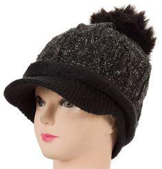 f777a1859af 2Pcs Winter Skullies Beanies Hats For Women Touca Gorro Knit Caps ...