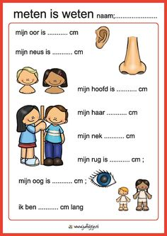 Meten is weten ; hoeveel cm is. Primary Education, Primary School, Kids Education, Pre School, Elementary Schools, Montessori Activities, Learning Activities, Kids Learning, Learning Quotes