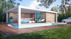 Home cube pool house