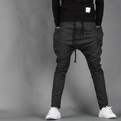 163c258d75 Homme mode Pantalon sport jogging élastique Hip Hop danse sarouel harem  automne