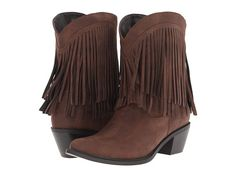 Great fringe boots from Roper #western #style #zappos