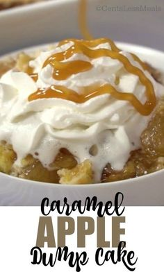 This caramel apple dump cake is a wonderfully sweet, moist and crumbly dessert that you will love to make and eat! If you've used an apple dump cake recipe with yellow cake mix before, the extra flavor, sweetness, and creaminess of the caramel sauce in this recipe will be a delicious surprise!