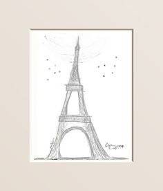 Eiffel Tower  Whimsical Art Print by sweetinterventions on Etsy, $25.00