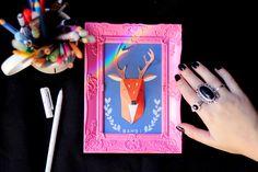 Meninices da Vida: DIY Porta retrato de cervo em relevo