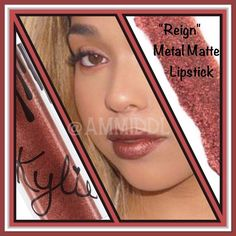 COMING SOONKylie Jenner's Metal Matte Lipstick NO TRADESPRICE IS FIRM! (DO NOT BUY! Price will drop to $35 when becomes available)   Contains: 1 Metal Matte Lipstick (0.11 fl oz./oz. liq / 3.00ml)     The 'Reign' shade is a Ruddy Copper Metallic. Liquid lipstick meets metallic. Wearable, yet bold. Matte, yet creamy. The Metal Matte Lipstick provides a saturated lay down of incandescent pearls with a creamy demi-matte finish. This hybrid technology leaves the lips feeling nourished, full and…