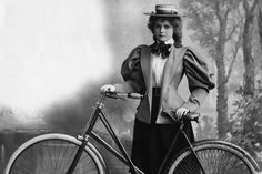 """19th century women were discouraged against biking due to """"bicycle face""""  """"Over-exertion, the upright position on the wheel, and the unconscious effort to maintain one's balance tend to produce a wearied and exhausted 'bicycle face'""""   How horrible!!!"""