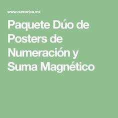 Paquete Dúo de Posters de Numeración y Suma Magnético