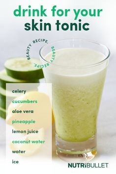 If you've been searching for a smoothie recipe that tastes wonderful and can make your skin look and feel amazing, then you've found it! Healthy Juice Recipes, Nutribullet Recipes, Juicer Recipes, Healthy Juices, Healthy Drinks, Detox Juices, Salad Recipes, Apple Smoothies, Strawberry Smoothie