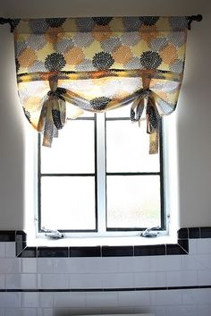 Kitchen Window.  Cute and easy curtain tutorial: http://madeonmaple.blogspot.com/2010/10/simple-curtain.html