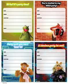 Free Muppets Printable Inviations  Courtesy of Family Disney