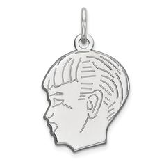 Share & Earn earn Bonus reward points toward fine jewelry Sterling Silver E... Check it out here! http://shirindiamond.net/products/sterling-silver-engraveable-boy-polished-front-satin-back-disc-charm-qm357-18?utm_campaign=social_autopilot&utm_source=pin&utm_medium=pin