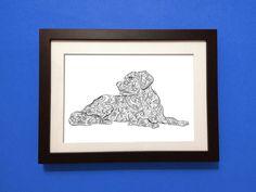 Poster Labrador - A4