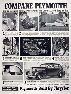 1000 Images About Plymouth Vintage Advertising On