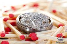 10K White Gold Round Diamond Engagement Bridal Wedding Band Ring Trio Set 2.00ct #beijojewels