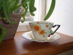 Art Deco Burleigh ware tea cup