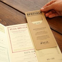 Zizzi Ristorante Menu Suite 2013 by Tobias Hall, via Behance