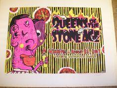 Queens of The Stone Age QOTSA Winnipeg August 26 2007 Concert Poster | eBay