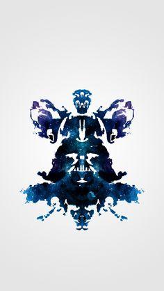 Rorschach Darth Vader iPhone 5 wallpaper