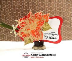 In My Creative Opinion: The 25 Days of Christmas Tags Just One More - Day 26 25 Days Of Christmas, Christmas Tag, Handmade Christmas, One More Day, Happy Thanksgiving, Poinsettia, Artsy, Joy, Seasons