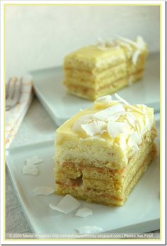 Opera Cake - lime & coconut (pineapple would be amazing!)