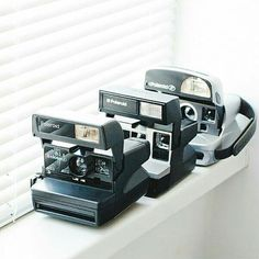 Polaroid One, 635, 645, 636 CL - Functional Vintage Cameras with Folk Patterned by FolkCamera
