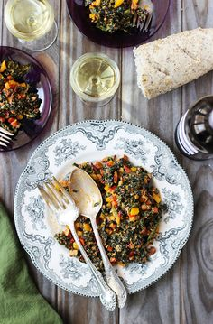 Kale Bell Pepper Salad with Manchego and Piquillio Pepper Pesto - CaliZona