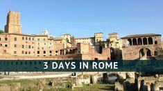 How to make the most of 3 days in Rome? Follow our itinerary for first time visitors and see some of Rome's most famous sites such as the Colosseum, the forum and St Peter's square plus some of Rome's most romantic streets. Catch a stunning view over Rome and get our best tips for a great weekend in Rome for all ages.