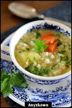 Hulled Barley Soup with Chicken_Delicious soup with hulled Barley is a frequent guest on our table. Certainly tasted your household, it is very mild.