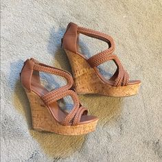 Charlotte Russe platform shoes size 7 Worn once Charlotte Russe brown platform summer shoes. Worn once. Good condition Shoes Platforms