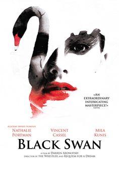 Black Swan - affiche réalisée pour le devoir 3 du Design Graphique / Lignes & Formation