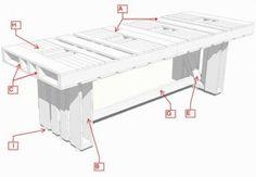 Le istruzioni su come fare una tabella con pallet per la sala da pranzo