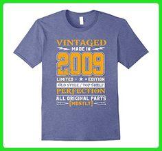 Mens Vintage Born in 2009 8th Birthday T-Shirt 8 Years Old 2XL Heather Blue - Birthday shirts (*Amazon Partner-Link)