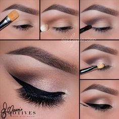 Ely Marino takes us step by step to create a simple day look for summer. Pin this makeup tutorial with Motives Cosmetics and try it for yourself! Eye Makeup Steps, Makeup Eye Looks, Smokey Eye Makeup, Skin Makeup, Eyeshadow Makeup, Makeup Dupes, Makeup Remover, Basic Makeup, Simple Eye Makeup