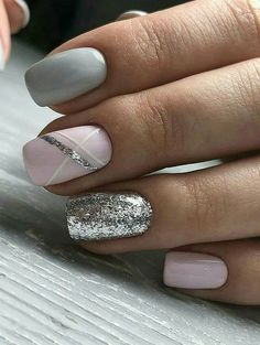 20 Best Pink & Grey nails images in 2017 | Gray nails, Nail