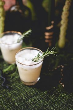 the pear spice flip - gin, rosemary, clove and pear