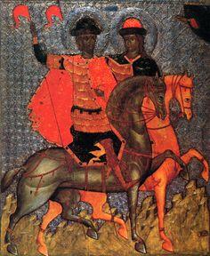 мчч.блгвв.князья Борис и Глеб.   Около 1377, дни памяти: май 2, ИЮЛЬ 24