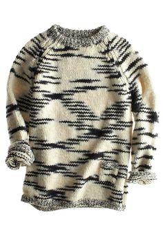 sweater | birdseye jacquard | chunky black and white knit