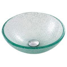 Kraus GV-500-14 Broken Glass Vessel Sink | ATG Stores $103.00 on sale